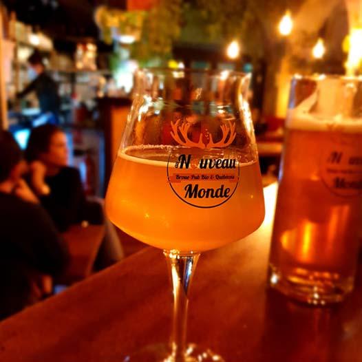 Au Nouveau Monde Bordeaux : bières maison 25cl et 50cl